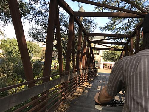 Bridge from pedicab